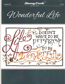 Stoney CreekWonderful Life LFT299 cross stitch pattern