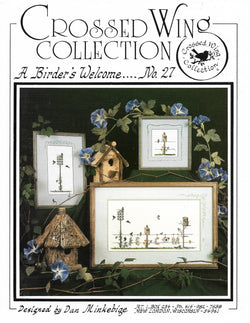 Crossed Wing Collection A Birder's Welcome No. 27 cross stitch pattern