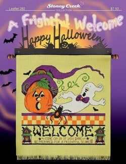Stoney Creek A Frightful Welcome LFT282 halloween cross stitch booklet