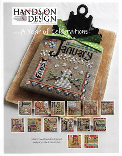 Hands on Design A year of celebrations cross stitch pattern