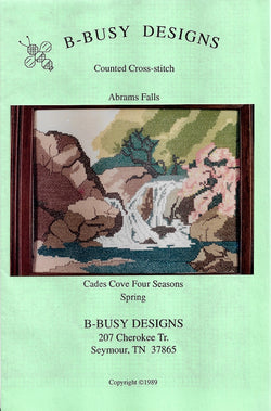 B-Busy Designs Abrams falls cades Cove cross stitch pattern