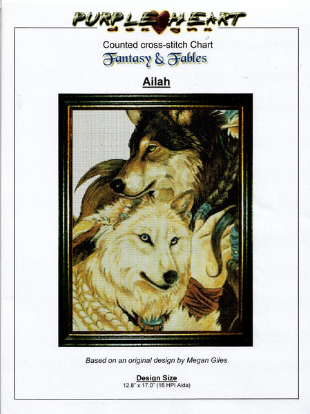 Purple Heart Ailah cross stitch pattern