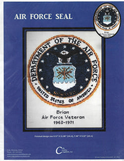 Cody Country Air Force Seal cross stitch pattern