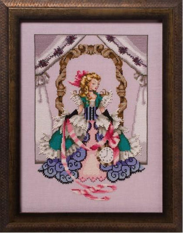 Mirabilia Alice MD157 victorian Alice in Wonderland cross stitch