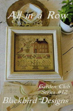 Blackbird Designs All in a row victorian cross stitch sampler pattern