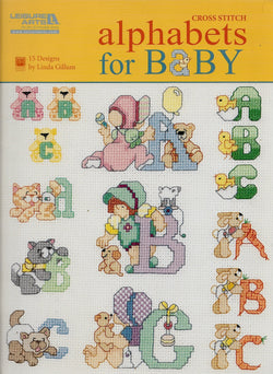 Leisure Arts Alphabet for Baby cross stitch book
