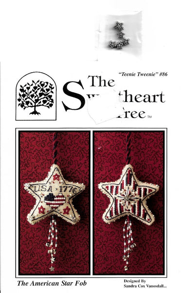 Sweetheart Tree The American Star Fob cross stitch pattern