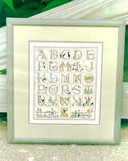 Diane Graebner Amish Alphabet DG-19 cross stitch pattern