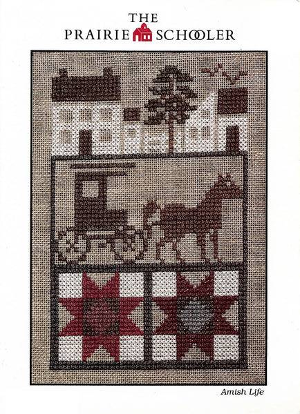 Prairie Schooler Amish Life 1995 cross stitch pattern