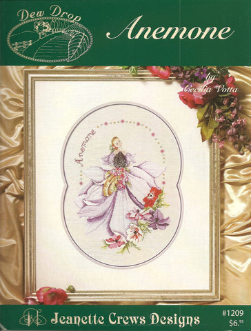 Jeanette Crews Anemone cross stitch pattern booklet