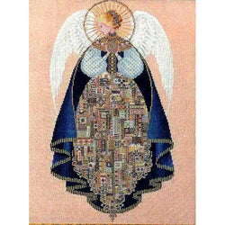 Lavender and Lace Angel of love Marilyn Leavitt-Imblum victorian cross stitch pattern