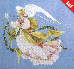 Lavender and Lace Angel of Summer L&L26 Marilyn Leavitt-Imblum victorian cross stitch pattern
