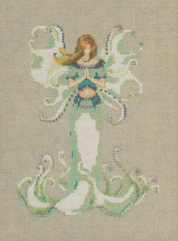 Mirabilia Angel White Trumpet NC246 victorian pixies cross stitch