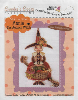Brooke's Books Annie the Halloween Witch cross stitch ornament