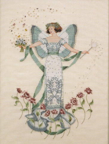Mirabilia April's Blue Diamond Nora Corbett MD-47 cross stitch pattern
