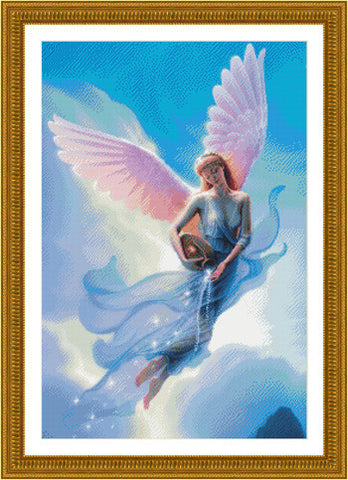 Kustom Crafts Aquarius angel cross stitch pattern