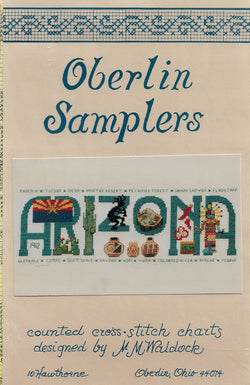 Oberlin Arizona cross stitch pattern