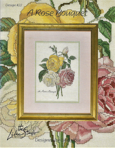 Lilac Studios A Rose Bouquet cross stitch pattern