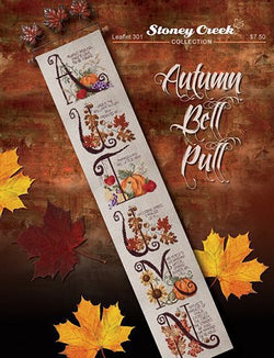 Stoney Creek Autumn Bel Pull LFT301 cross stitch pattern