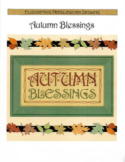 Elizabeth's Designs Autumn Blessings cross stitch pattern