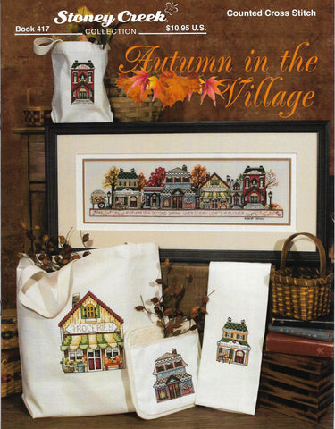 Stoney Creek Autumn in the Village BK417 cross stitch pattern