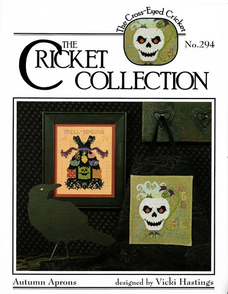 Cricket Autumn Aprons CC294 cross stitch pattern