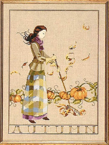 Mirabilia Autumn in my Garden MD-91 victorian cross stitch