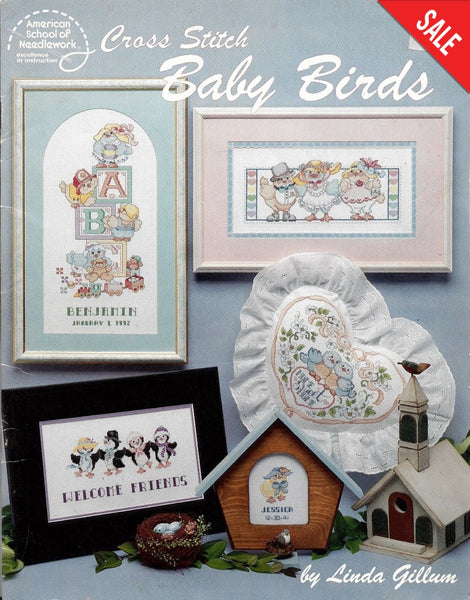 American School of Needlework Baby Birds cross stitch pattern