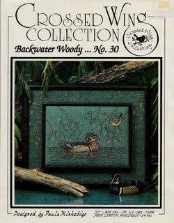 Crossed Wing Collection Backwater Woody 30 Duck cross stitch pattern