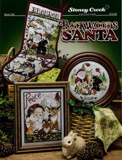 Stoney Creek Backwoods Santa, BK526 Christmas cross stitch pattern
