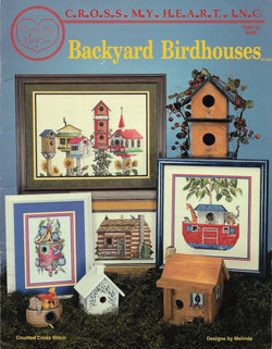 Cross My Heart Backyard Birdhouses CSB-123 cross stitch pattern