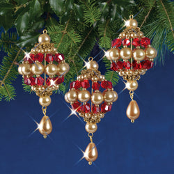 Solid Oak Baroque Drops beaded ornament kit
