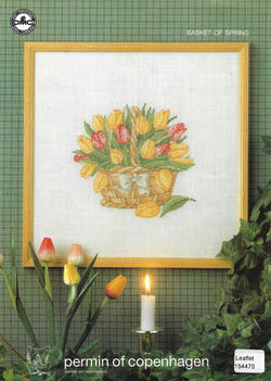 Permin of Copenhagen Basket of Spring cross stitch pattern