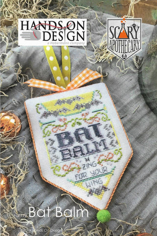 Hands on Design Bat Balm Scary Apothecary HD-172 Halloween Ornament cross stitch pattern