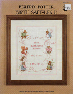 Green Apple Co. Beatrix Potter Birth Sampler cross stitch pattern