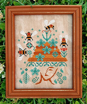 Carriage House Bees in Her Bonnet cross stitch pattern