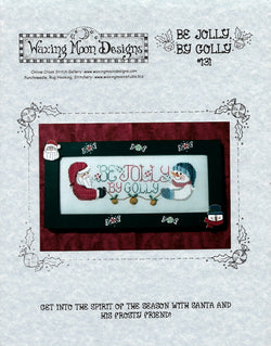 Waxing Moon Be Jolly By Golly christmas cross stitch pattern