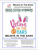 Cross Stitch Wonders Carolyn Manning Believe in the Ears easter Cross stitch pattern