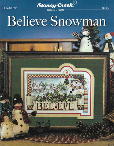 Stoney Creek Believe Snowmen LFT393 cross stitch pattern