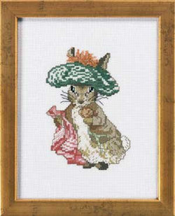 Permin of Copenhagen Benjamin Bunny 12-1401 Beatrix Potter cross stitch kit