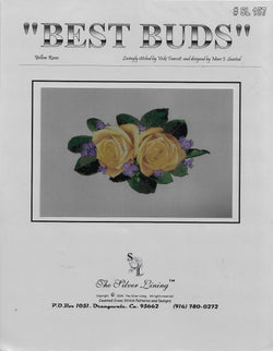 Silver Lining best Buds Yellow Rose flower cross stitch pattern