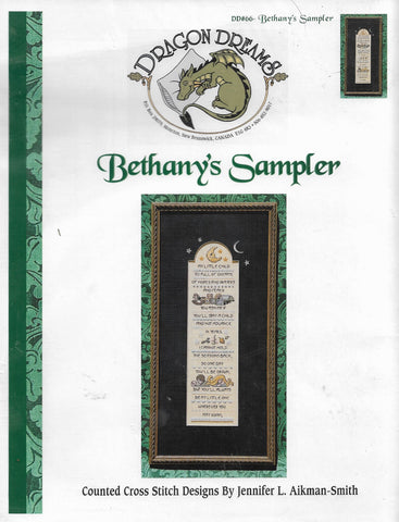 Dragon Dreams Bethany's Sampler baby cross stitch pattern