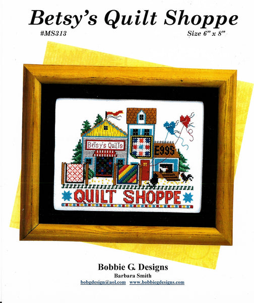 Bobbie G. Betsy's Quilt Shoppe cross stitch pattern