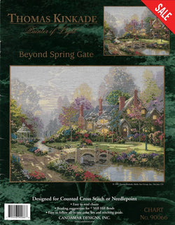 Candamar Designs Beyond Spring Gate Thomas Kinkade cross stitch pattern