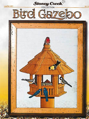 Stoney Creek Bird Gazebo LFT401 cross stitch pattern