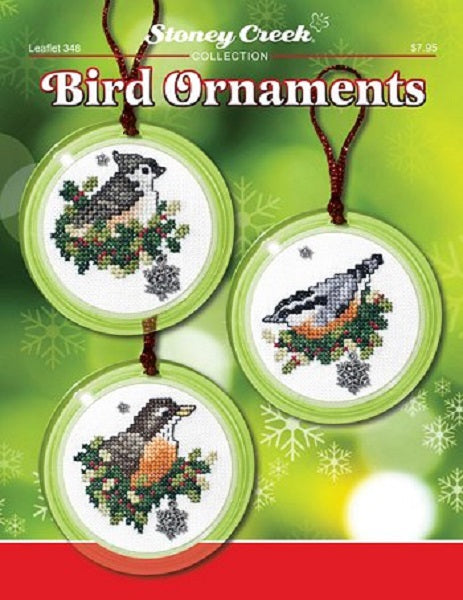Stoney Creek Bird Ornaments LFT349 cross stitch booklet