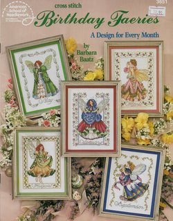 American School of Needlework Birthday Fairies cross stitch pattern