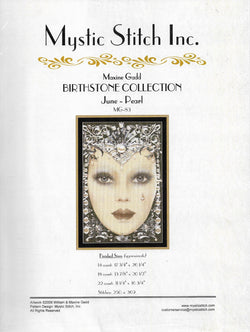 Mystic Stitch Birthstone Collection - June Maxine Gadd cross stitch pattern
