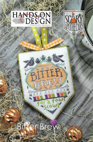 Hands on Design Bitter Brew Scary Apothecary HD-173 Halloween Ornament cross stitch pattern