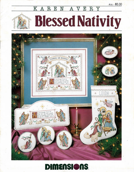 Dimensions Blessed Nativity christmas cross stitch pattern